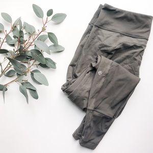 LULULEMON | Gray Moto Leggings Ankle Zipper 10